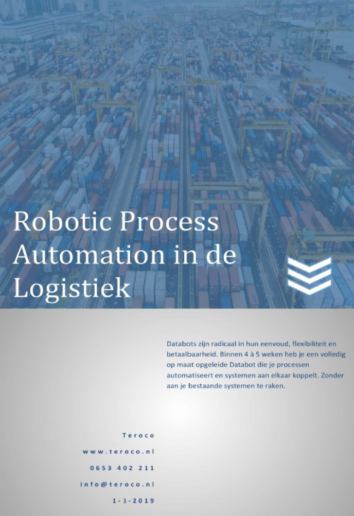 RPA via Teroco Databots in Logistiek