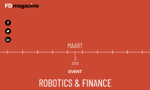 FD Magazine: Robotics & Finance - 3 maart 2020
